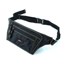 Men Oxford Running Jogging Bag Cell/Mobile Phone Case Pocket Small Anti-theft Money Fanny Pack Waist Hip Belt Bag Pouch
