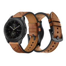 22mm strap for samsung Gear S3 Frontier galaxy watch 46mm SM-R800 huawei watch gt huami amazfit band Genuine Leather belt