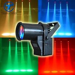 TRANSCTEGO Disco światła etap laserowego DMX 512 RGBW deszcz szkło reflektor LED na DJ KTV wyposażenie baru ruchu głowica laserowa Disco lampa