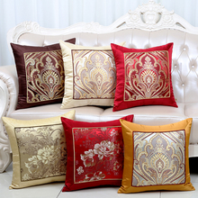 Classic Patchwork Jacquard Cushion Pillow Cover Sofa Chair Back Sets European style High End Silk Brocade Case