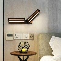 black/white color for Bedroom LED Wall Lamp Acrylic Bedside Light Indoor Kitchen Dining Room lights Corridor sconce Lighting