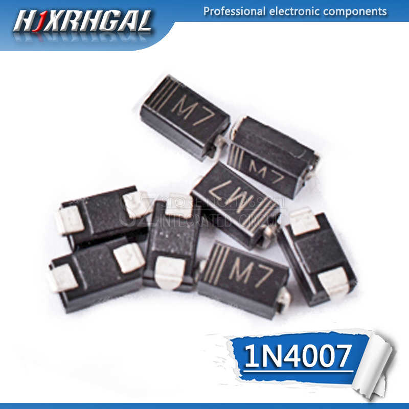 5pcs 1N4007 M7 SMD דיודה 1A 1000V IN4007 מיישר דיודה
