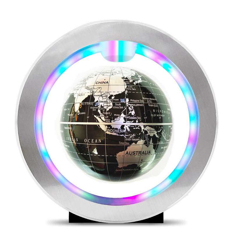 Seven color lamp Magnetic Levitation Floating Globe World Map Anti-gravity earth Globe LED Light Home Decoration Birthday Gift magnetic floating levitation 3d print moon lamp led night light 2 color auto change moon light home decor creative birthday gift