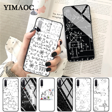 YIMAOC Chemistry drawing Glass Case for Xiaomi Redmi 4X 6A note 5 6 7 Pro Mi 8 9 Lite A1 A2 F1