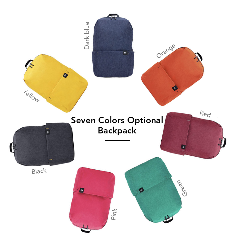 Original Xiaomi 10L Backpack Bag Colorful Leisure Sports Chest Pack Bags Unisex For Mens Women Travel Camping (11)