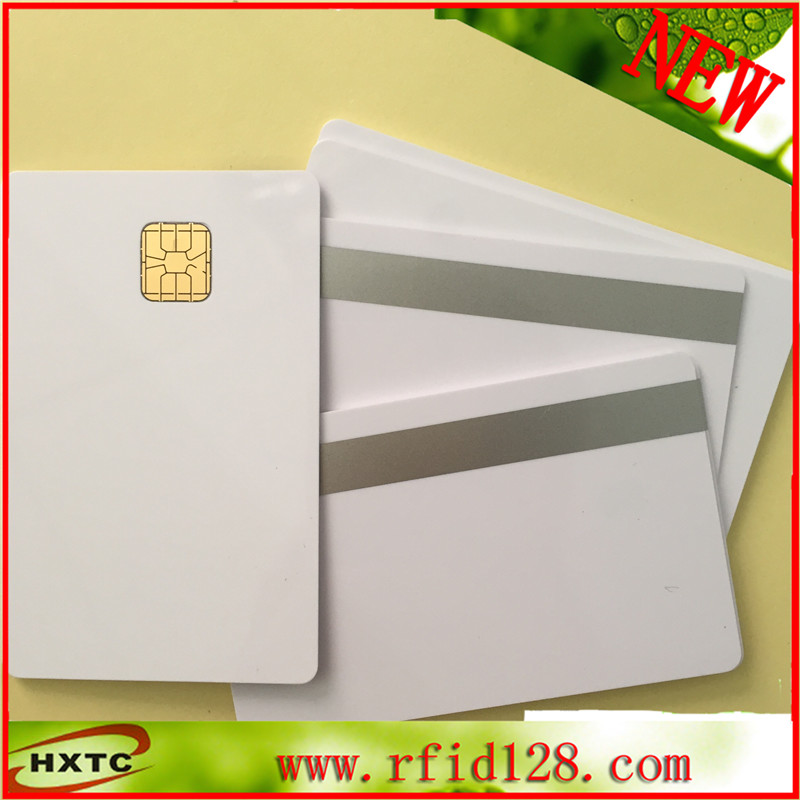 200pcs PVC Contact Smart IC big Chip Card sle4428 With 2track sliver MagStripe For insurance super marketing 200pcs fm4428 iso7816 contact ic card contact smart card for social security