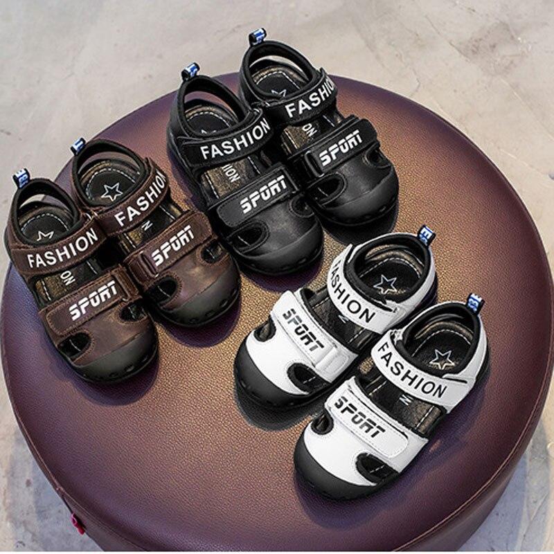 2017 Summer Boys Sandals New Baotou Massage Breathable Lightweight Non Slip Wear-Resistant Children's Sandals Beach Shoes 2016 summer new boys and girls shoes korean sports beach sandals wear non slip