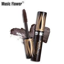 Music Flower Rimel Curling Mascara Waterproof Long-lasting Thick Volume Makeup Mascara Brown Eyelashes Lengthening Eye Cosmetics цены онлайн