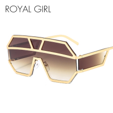 Royal Girl Oversize Sunglasses Men 2019 Luxury Brand Vintage