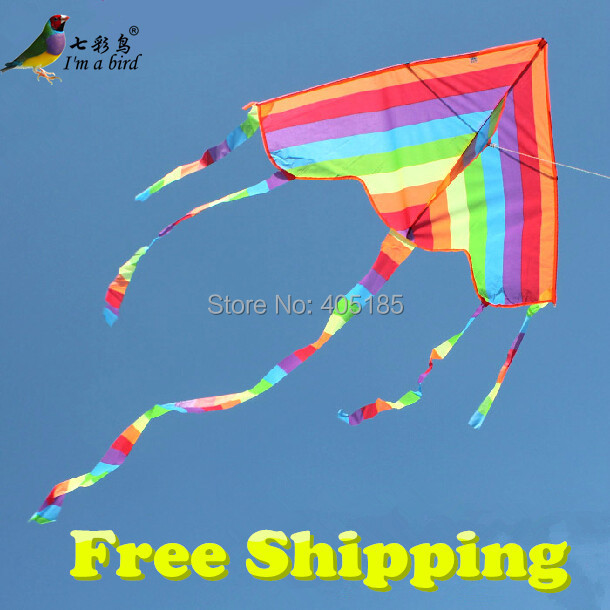 Smart Free Shipping Outdoor Fun Sports Factory Outlet Children Triangle Color Kite With Flying Tools Easy To Fly Outdoor Fun & Sports