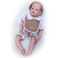 Safe Silicone Lifelike 22 Baby Doll Touch Soft Baby Toy Realistic Reborn Dolls 55 Cm Boy