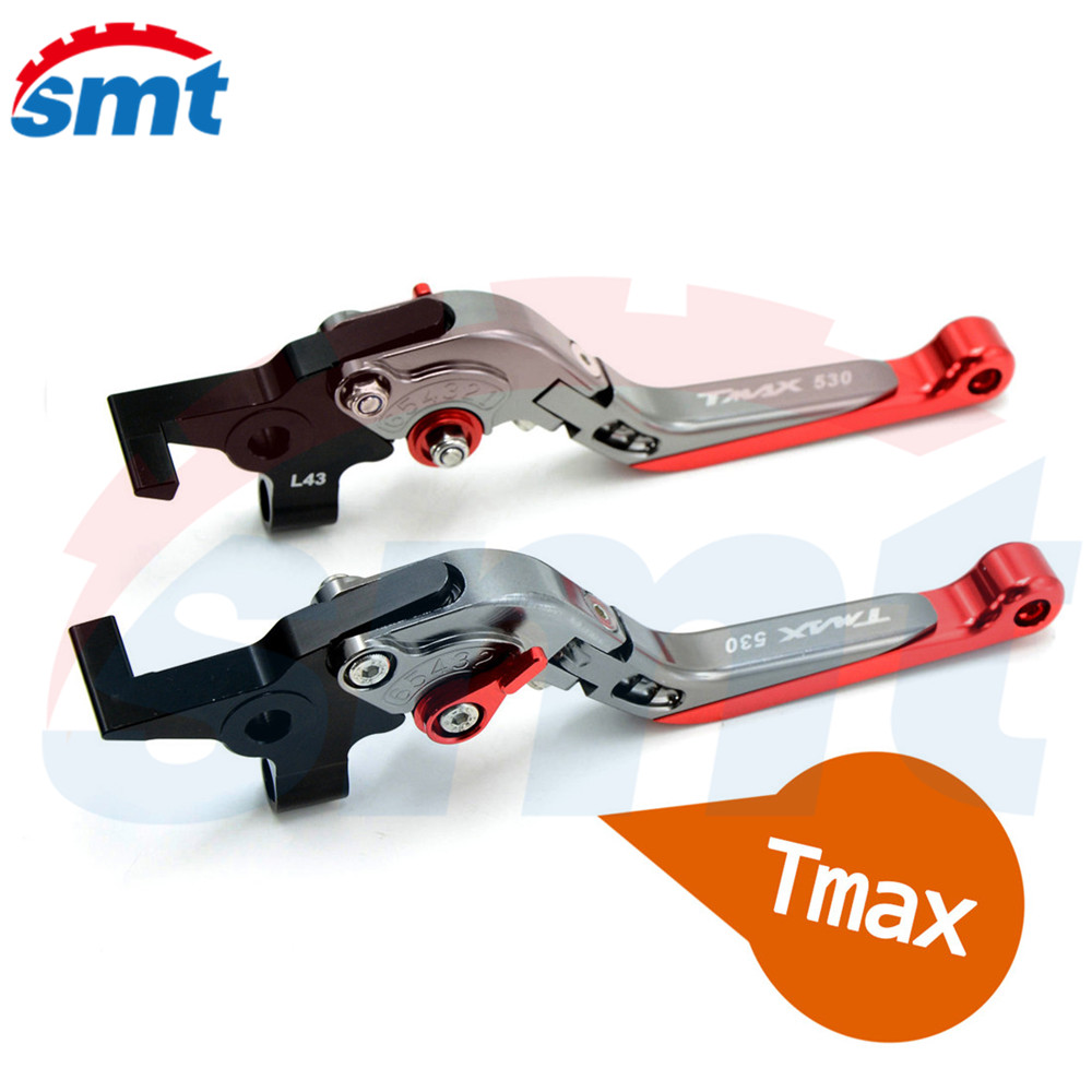 New Motorcycle Accessories CNC Folding&Extending Brake Clutch Levers Red FOR YAMAHA TMAX 530 TMAX530 T-MAX530 T-MAX 530 2009 for yamaha tmax tmax530 t max t max530 530 xp530 red blue new style blue logo motorcycle adjustable short brake clutch levers