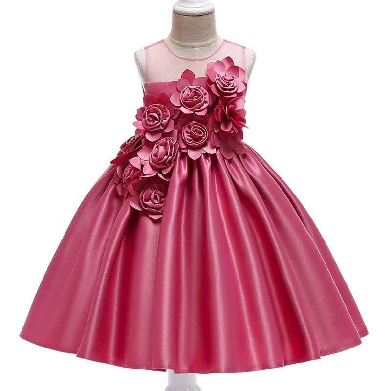 2018 summer children's clothing Lace   dress     flower     girl     dress   wedding birthday   dress   princess party   dress   tutu baby   girl   clothes