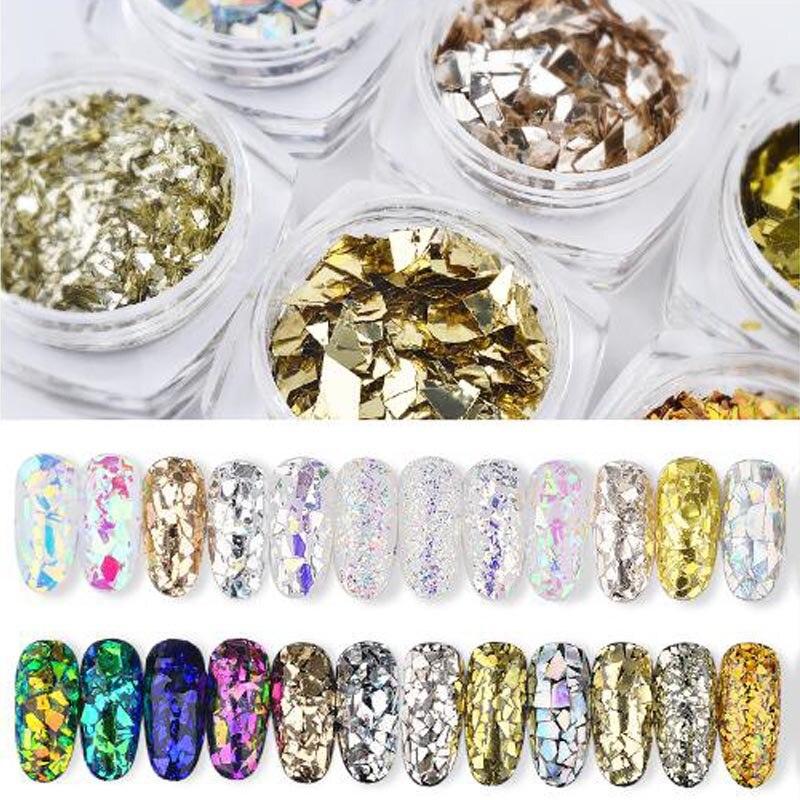 6 Box/set Gemischt Farbe 3d Ultradünne Pailletten Nagel Glitter Flakes Sparkly Diy Tipps Dazzling Paillette Nagel Kunst Dekorationen Gesundheit Effektiv StäRken Nails Art & Werkzeuge