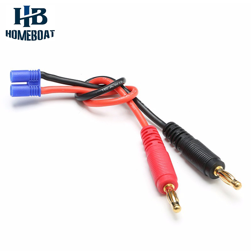EC2 To Banana Plug Charge Lead Adapter For Hubsan H501S X4 RC Quadcopter Spare Part