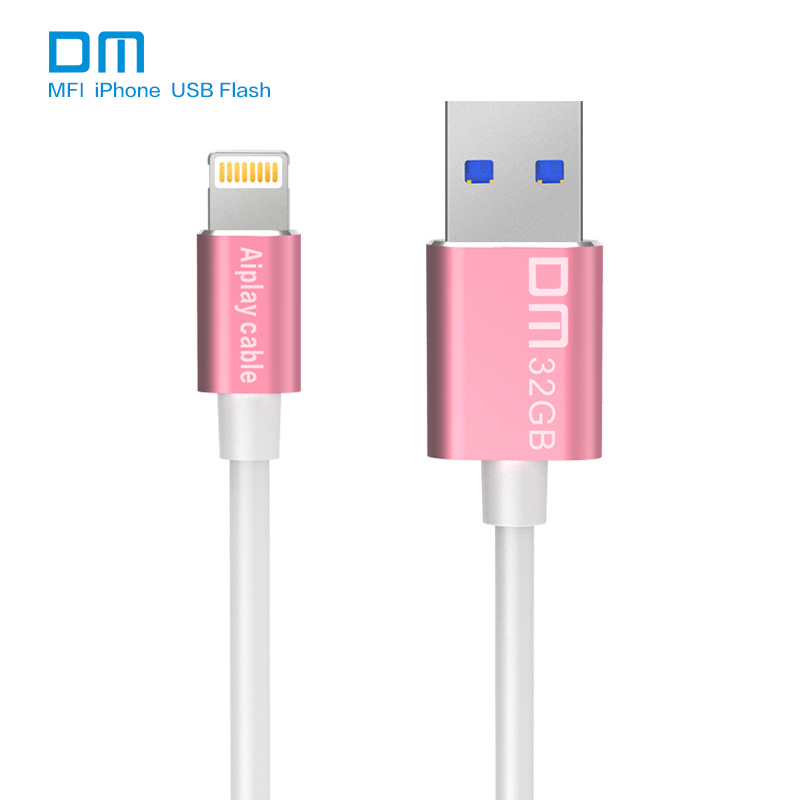 Free shipping DM APD009 MFI USB3.0 usb flash drives and cable for iphone for ipad external storage usb flash disk
