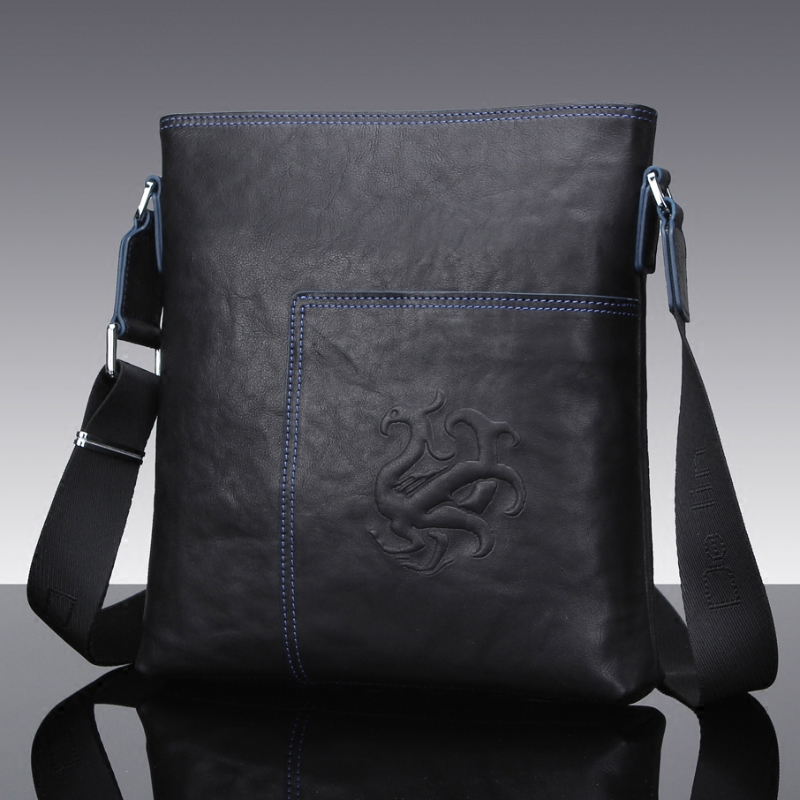 delin 55 Delin retro wind single shoulder bag male leather vertical soft oblique satchel head layer cow leather