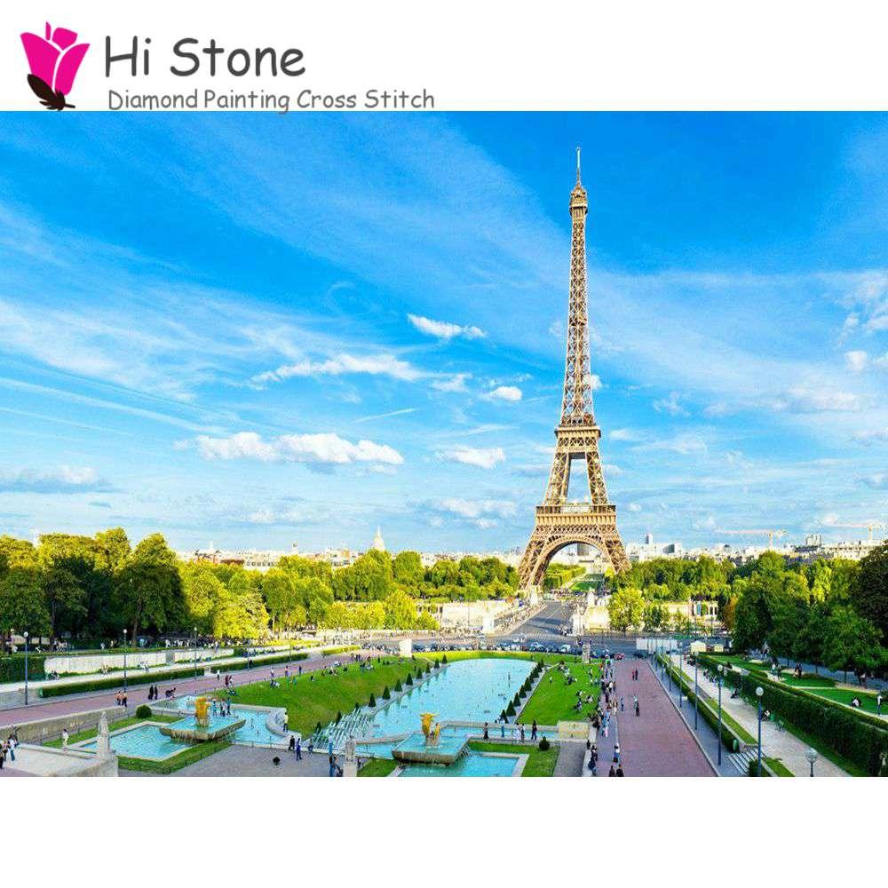 5D поделки алмазов картина Париж street view башня полный квадратный алмаз вышивки крестом алмазов вышивка украшение дома подарок