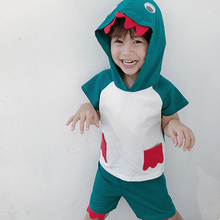 3 4 5 6 7 8y Kids Cosplay Dinosaur Short Shirt Pants Halloween Children'S Characters Clothes Cute Animal Dinosaur Clothing Green adult green dinosaur inflatables halloween christmas rave party spoof clothes dinosaur toys mount