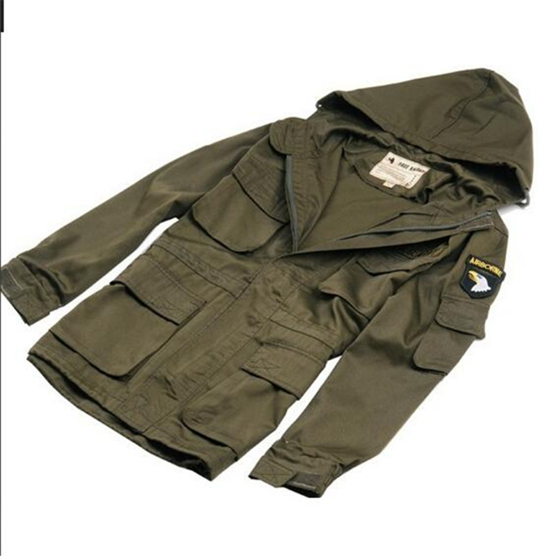 ФОТО military tactical jacket for men 101st Airborne Division outdoor hooded windbreaker jacket men's single 8001
