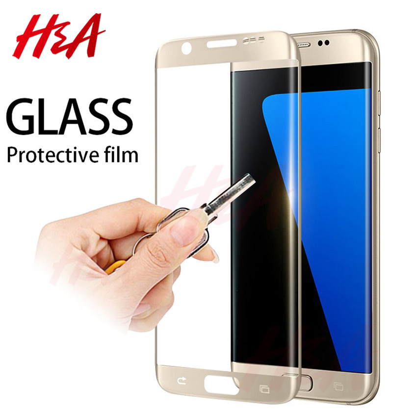 H&A Protective Glass On The For Samsung Galaxy S7 S6 Edge Tempered Screen Protector 4D Curved 0.25mm Glass S7Edge S6Edge Film