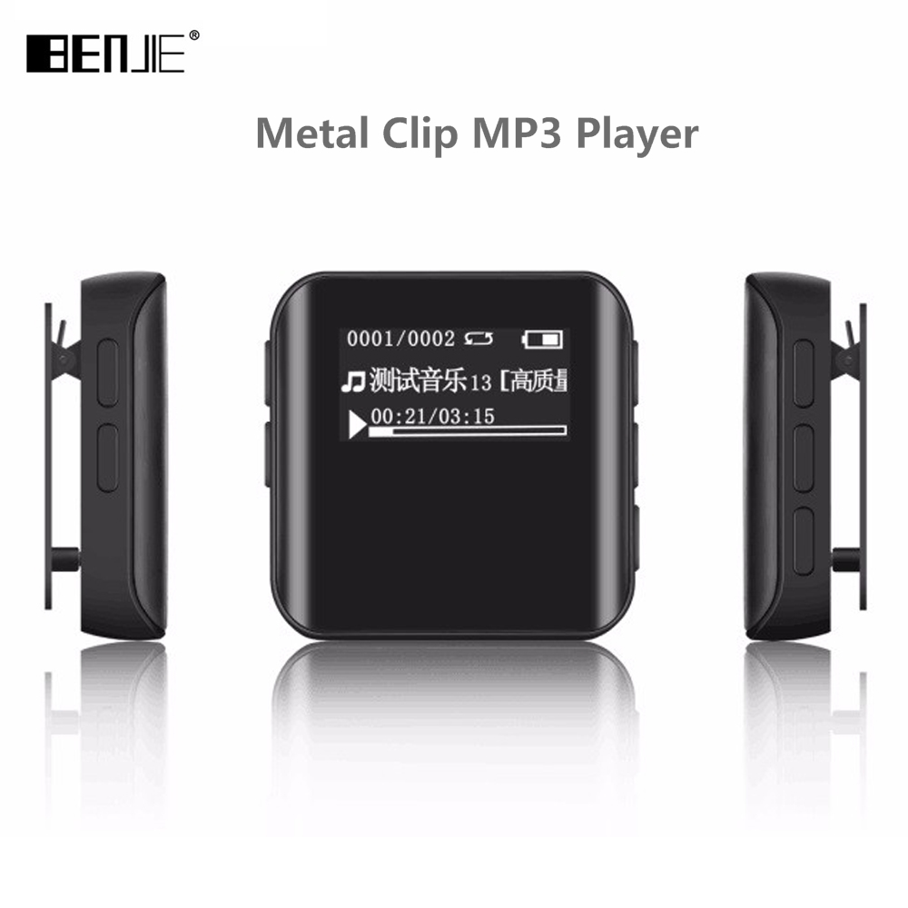 Newest Benjie K10 Mini Clip MP3 Player Portable 8GB Sports MP3 Music Player High Sound Quality Lossless Player With FM Radio