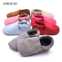 2019 New Baby Shoes Soft Genuine Leather Baby Boys Girls Infant Toddler Spring Autumn Cute Kids Shoes Slippers First Walkers