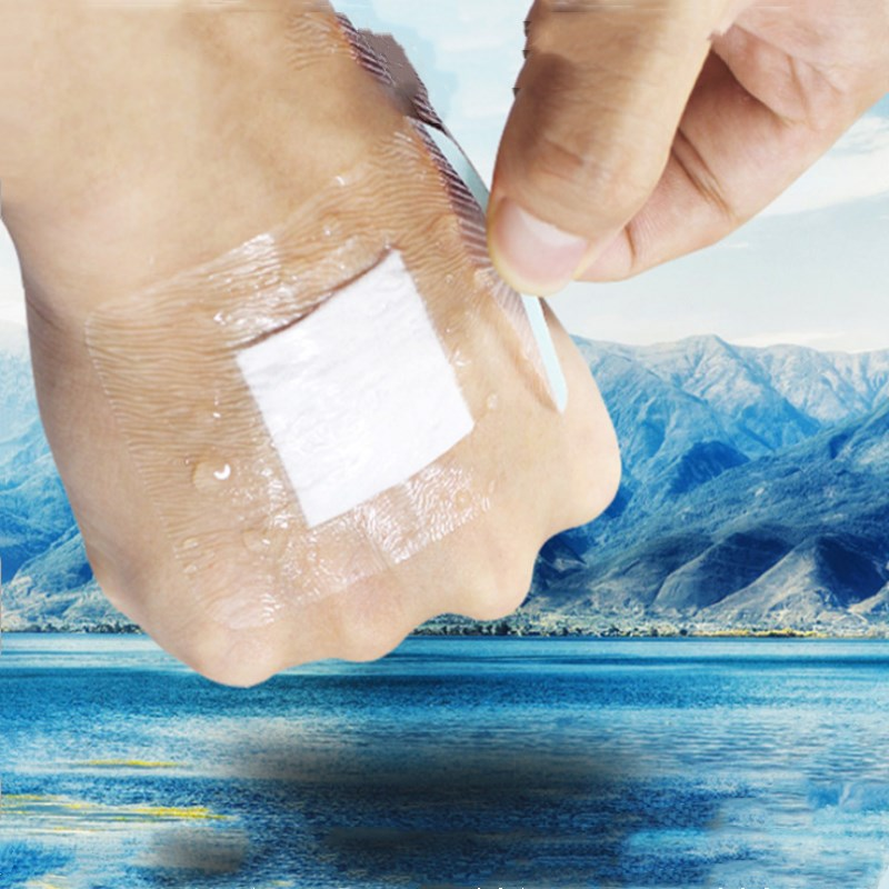 10 Pcs Waterproof Band-Aid 6x7cm Medical Transparent Sterile Wound Dressing Breathable Navel Paste Band-aid