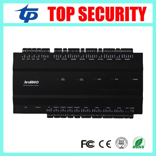 Card and fingerprint access controller, 4 doors 10000 users access control panel inbio460 access control system with TCP/IP