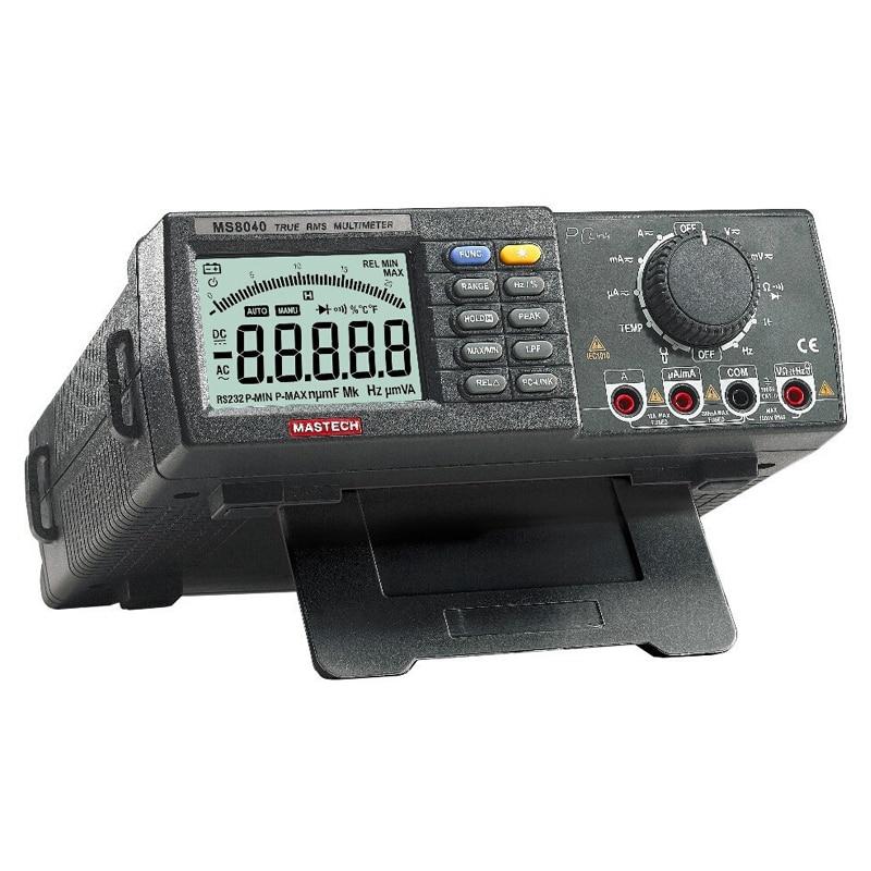MASTECH MS8040 22000 Counts AC DC Voltage Current Auto range Bench multimeter True RMS Low pass