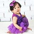 2 pçs/set flor conjuntos de roupas de verão do bebê roupas de menina meninas do bebê recém-nascido romper dress + headband do 2 pcs romper do bebê conjunto st36