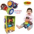 Edushape multifuncional colorido compreensão sineta pano haltere chocalho recém-nascido cognitiva presente brinquedo infantil