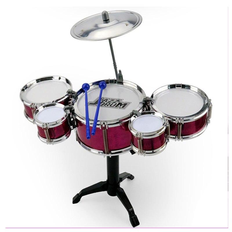 1 ensemble Infantile Jouer des Percussions Tambours Set de batterie jazz Jouet Musical Instrument Tambour En Plastique Enfants instruments de musique Jouets pour Enfants