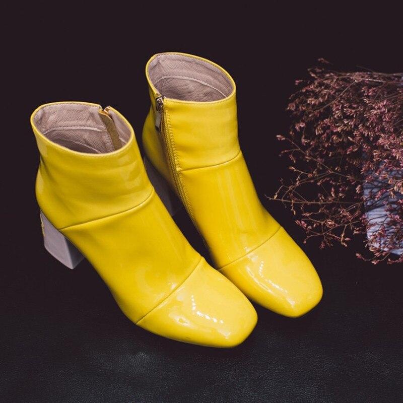 CITW Frauen Stiefel Herbst Und Winter Stiefel Starke Ferse