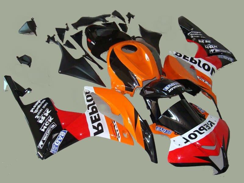 L36 high качество красный оранжевый черный инъекции формованный обтекатель комплект для CBR600RR 07 08 Обтекатели набор CBR600RR 2007 2008