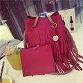 Designer de alta Qualidade Bucket Bag Mulheres Tassel Bolsa de Ombro Bolsa Famosa Marca Composite Sacos de Tote Conjunto Senhoras Casuais Bolsas Bolsos