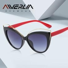 3337ab43584 AIVERLIA Gato Olho Óculos De Sol Das Mulheres de Design Da Marca Gradiente  Óculos Retro Vintage