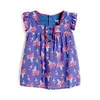 Girl Dress 2016 New Summer Beautiful Cotton Dress For Girls Floral Flower Girls Dress For Party