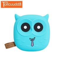 Tollcuuudda 5000mAh Power Bank Portable Charger Cartoon Owl Powerbank 18650 Battery Pack External Battery For Xiaomi