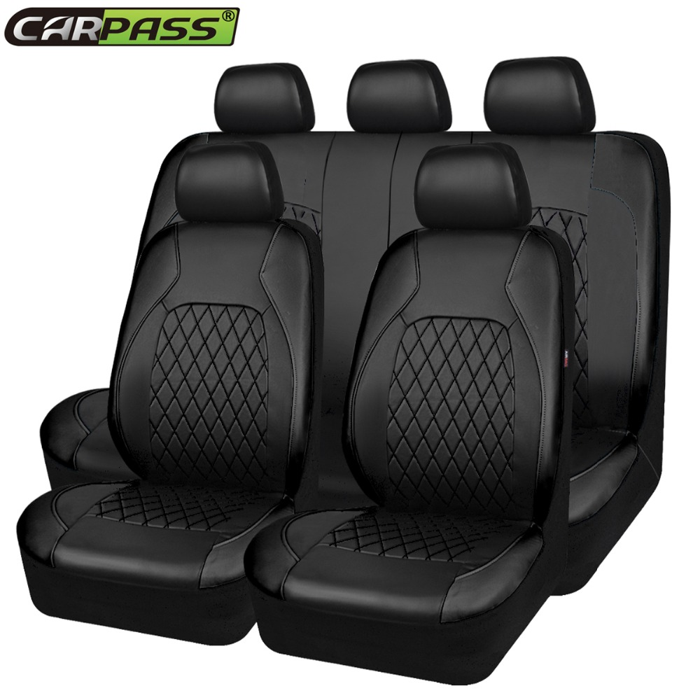 Car-pass Luxury PU Leather Auto Universal Car Seat Covers Automotive Seat Covers For Toyota Lada Kalina Granta Priora renault 2x car led w5w t10 194 clearance light for lada granta vaz kalina priora niva samara 2 2110 largus 2109 2107 2106 4x4 2114 2112