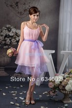 free shipping brides maid dresses 2013 new design plus size with sashes a-line custom short mini bridesmaid cheap