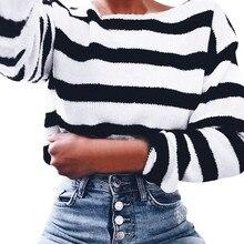 Winter Women Warm Sweatshirts Women's Long Sleeve Striped O Neck Sweatshirt Casual Pullover Tops Sweatshirts все цены