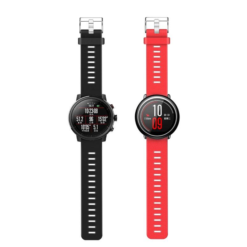 Silicone bands For Xiaomi Huami Amazfit Pace / Amazfit 2 Sports band Strap Bracelet ,Amazfit 2S Wrist Strap black red