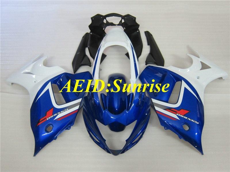 Custom white blue Fairing kit for SUZUKI GSX650F 08 09 10 11 12 GSX 650F 2008