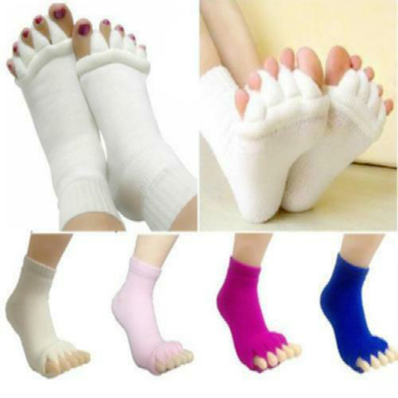 Comfy Toes Foot Alignment Socks Relief For Solid Bunions Hammer Toes Cramps Happy Feet Five Finger