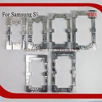 2 sztuk Stopu Aluminium Metal Wyrównania Formy Do Samsung Galaxy s5 Laminat Stałe Formy Wymienić LCD OCA Klej UV telefonu Formy szkło