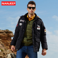 NIANJEEP Winter Jackets Men Thicken Cotton Padded Coats New Fashion Design Casual Men Parkas Windproof Outerwear