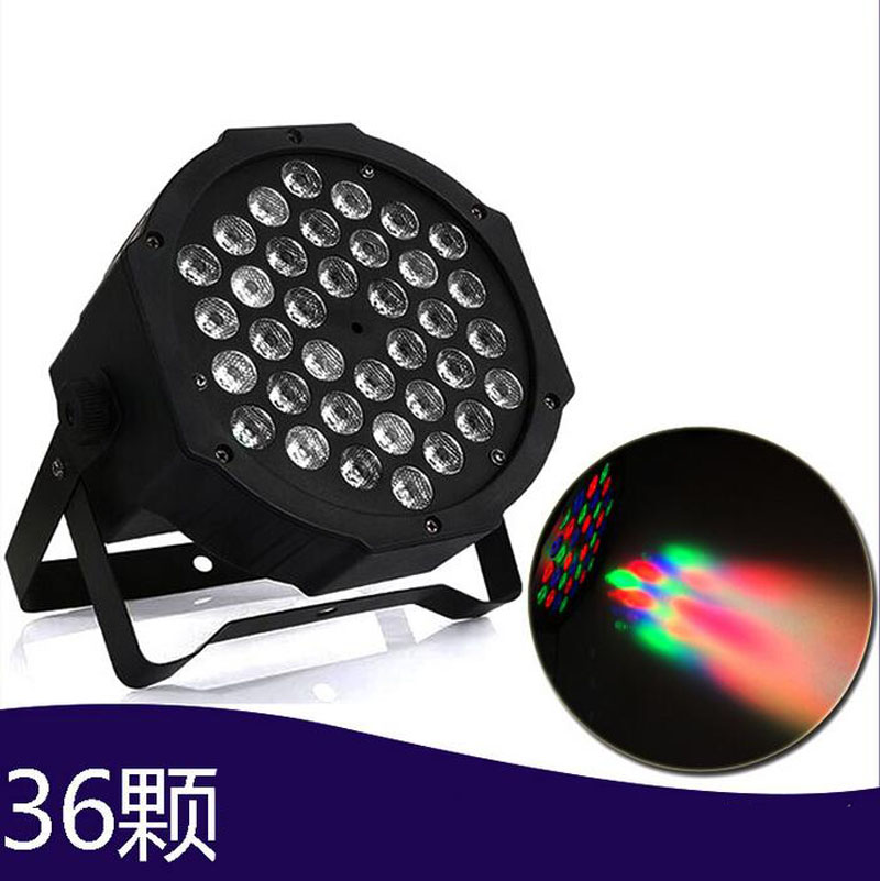 4pcs 36*1W 36leds AC90 - 240V LED Lamp DMX RGB LED Flat Par Light Stage Lamp for KTV Party Disco DJ Bar Effect UP Sound Auto DJ hot ac 90 240v 54 x 1w rgb led stage light high power flat par light led stage lighting projector lamp for party ktv disco dj