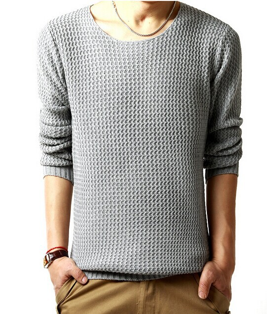 Free Shipping black /gray men sweater casual new pullovers O neck ...