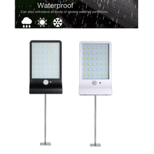 48/36 LED Solar light Motion Sensor Garden Security Lights lamp Led Para Exterior street spot floodlight Wall w metal pole